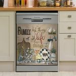 Hummingbird The Best Things In Life Are Not Things Dishwasher Cover Sticker Kitchen Decor