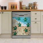 Green Turtle Love Ocean Dishwasher Cover Sticker Kitchen Decor