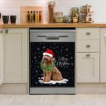 Labradoodle Wreath Necklace Christmas Dishwasher Cover Sticker Kitchen Decor
