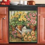 Heaven Is In A Garden Dishwasher Cover Sticker Kitchen Decor