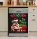 Ho Ho Ho It's Santa Paws Shih Tzu Dishwasher Cover Sticker Kitchen Decor