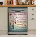 Glass Willow Cardinals Imagine Dishwasher Cover Sticker Kitchen Decor