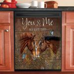 Horse You And Me Dishwasher Cover Sticker Kitchen Decor