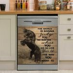 Horse Live Your Life The Way You Want To Dishwasher Cover Sticker Kitchen Decor