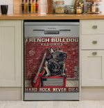French Bulldog Hard Rock Records Dishwasher Cover Sticker Kitchen Decor
