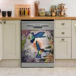 Hummingbird Flying Flower Pattern Dishwasher Cover Sticker Kitchen Decor