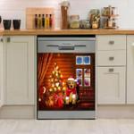 Goldendoodle Christmas House Tree Pattern Dishwasher Cover Sticker Kitchen Decor