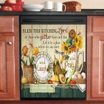 Gorgeous Dragonfly Bless This Kitchen Dishwasher Cover Sticker Kitchen Decor