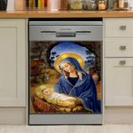 God Mother Mary Dishwasher Cover Sticker Kitchen Decor
