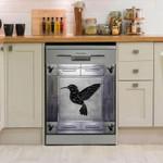 Humming Bird Corners Metal Pattern Dishwasher Cover Sticker Kitchen Decor