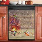 Hummingbird One Day We Will Meet Again Bird Lover Dishwasher Cover Sticker Kitchen Decor
