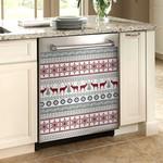Christmas Deer pattern Dishwasher Cover Sticker Kitchen Decor