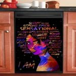 I Am Melanin Sensational Black Girl Dishwasher Cover Sticker Kitchen Decor
