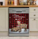 Dreaming White Christmas Goat Dishwasher Cover Sticker Kitchen Decor