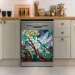 Dragonfly Ceramic Art Dishwasher Cover Sticker Kitchen Decor