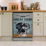 Great Dane Drink Coffee Dishwasher Cover Sticker Kitchen Decor
