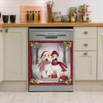 Fox Terrier Gift Snow Pattern Dishwasher Cover Sticker Kitchen Decor