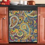 Hippie Paisley Pattern Dishwasher Cover Sticker Kitchen Decor