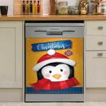 Happy Christmas Penguin Dishwasher Cover Sticker Kitchen Decor