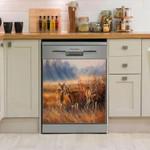 Deer Hunting Thinking Dishwasher Cover Sticker Kitchen Decor
