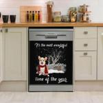 Corgi The Most Wonderful Time Of The Year Dishwasher Cover Sticker Kitchen Decor