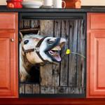 Funny Horse Dishwasher Cover Sticker Kitchen Decor