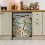 Its Well With My Soul Dragonfly Dishwasher Cover Sticker Kitchen Decor