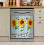 Hummingbird Live Today Dishwasher Cover Sticker Kitchen Decor