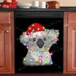 Koala Christmas Light Dishwasher Cover Sticker Kitchen Decor