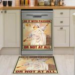 Do It With Passion Or Not At All Dishwasher Cover Sticker Kitchen Decor