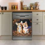 Corgi Autumn Leaves Dishwasher Cover Sticker Kitchen Decor