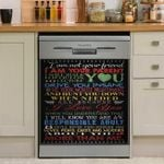 I Am Not Your Friend I Am Your Parent Dishwasher Cover Sticker Kitchen Decor