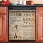 Cross Country Skiing Knowledge Dishwasher Cover Sticker Kitchen Decor