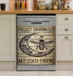 Hippie Hello Darkness My Old Friend Dishwasher Cover Sticker Kitchen Decor