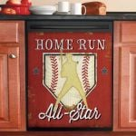 Home Run All Star Baseball Dishwasher Cover Sticker Kitchen Decor