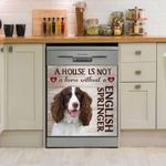 English Springer A House Is Not Pattern Dishwasher Cover Sticker Kitchen Decor