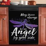 Dragonfly May There Always Be An Angel By Your Side Dishwasher Cover Sticker Kitchen Decor