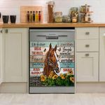 Horse Girls Life Is Short Break The Rules Dishwasher Cover Sticker Kitchen Decor
