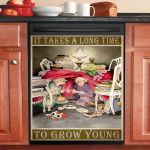 It Takes A Long Time To Grow Young Old Friends Dishwasher Cover Sticker Kitchen Decor