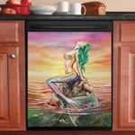 Fantast Mermaid Sunset Dishwasher Cover Sticker Kitchen Decor