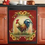 Farm Life Chicken Pattern Dishwasher Cover Sticker Kitchen Decor