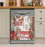 Hearts Come Home Christmas Dishwasher Cover Sticker Kitchen Decor