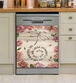 Dragonfly You Live A Beautiful Life Dishwasher Cover Sticker Kitchen Decor