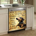 Dachshund Best Friends Come In All Shapes Sizes Dishwasher Cover Sticker Kitchen Decor