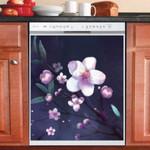 Cherry Blossoms Art Dishwasher Cover Sticker Kitchen Decor