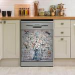 Hummingbird Life Is Beauty Dishwasher Cover Sticker Kitchen Decor