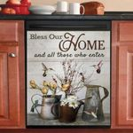 Humming Bird Bless Our Home Dishwasher Cover Sticker Kitchen Decor