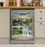 Gardening Is How I Relax Dishwasher Cover Sticker Kitchen Decor