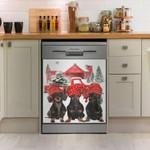 Dachsund Let It Snow Dishwasher Cover Sticker Kitchen Decor