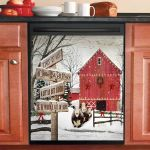 Hereford Cows Christmas This Is Us Dishwasher Cover Sticker Kitchen Decor